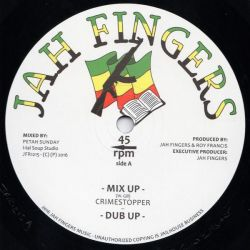 "Crime Stoppa - Mix Up - 12"" - Jah Fingers Music"