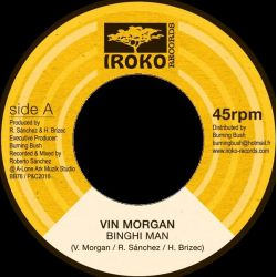 "Vincent Morgan - Binghi Man - 7"" - Iroko Records"