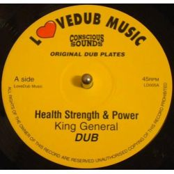 "King General / East Meets West - Health Strenght & Power / Militant Style - 10"" - LOVEDUB MUSIC"