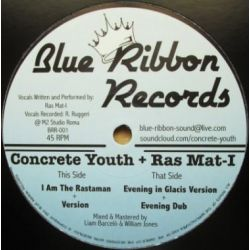 "Concrete Youth / Ras Mat-I - I Am The Rastaman - 12"" - Blue Ribbon Records"