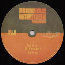 "Al Campbell / Young Kulcha - Live It Up / Set Dem Free - 12"" - Conscious Embassy Records"