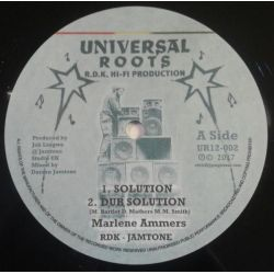 "Marlene Ammers / RDK Hi-Fi / Darren Jamtone -  Soloution / Lions of Wandsworth - 12"" - Universal Roots"
