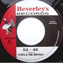 "Toots & The Maytals - 54 - 46 / Pressure Drop - 7"" - Beverleys Records"