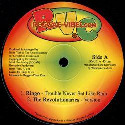 "Ringo  - Trouble Never Set Like Rain - 12"" - Reggae Vibes"