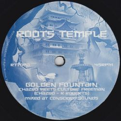 "Chazbo / Culture Freeman - Golden Fountain - 7"" - Roots Temple"