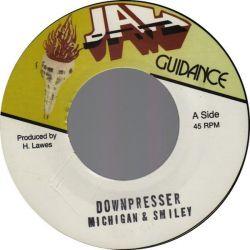 "Michigan & Smiley - Downpresser - 7"" - Jah Guidance"