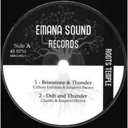 "Culture Freeman / Empress Shema / Chazbo /  -  Brimstone & Thunder / Millenium - 12"" - Emana Sound Records"