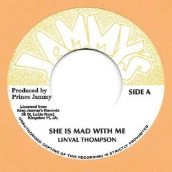 "Linval Thompson - She Is Mad With Me - 7"" - Jammys Records"