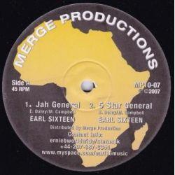"Earl Sixteen / Manasseh - Jah General / Natural Melody - 10"" - Merge Records"