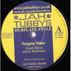 "Izyah Davis / The BushmanAshanti Selah / The Bushman - Forgive Them / Horns From The Hills - 10"" - Jah Tubbys"