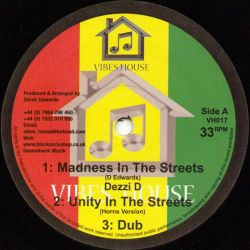 "Dezzi D - Madness In The Streets / Hypocrites And Parasites - 10"" - Vibes House"
