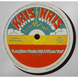 "Christopher Hewie - Longtime Rasta Did A Waan You - 12"" - Kris Kris"