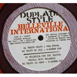 "Ras Mykha / K-Sänn Dub SystemMekele Sefe Selassie / K-Sänn Dub System - Rasta Youth - 10"" - Belleville International"