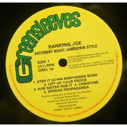 Ranking Joe - Saturday Night Jamdown Style - LP - Greensleeves Records