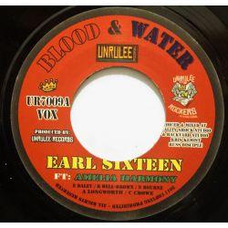 "Earl Sixteen / Amelia Harmony - Blood & Water   - 7"" - Unrulee Records"