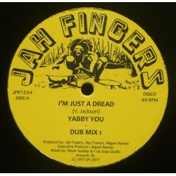"Yabby You - I'm Just A Dread - 12"" - Jah Fingers Music"