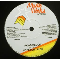 "Hopeton Lindo - Road Block - 12"" - Music Works Records"