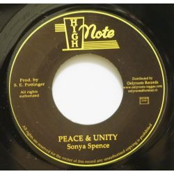 "Sonya Spence - Peace & Unity - 7"" - High Note"