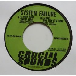 """System Failure - Hotta Fire / One Day At A Time - 7"""" - Crucial Sounds"""