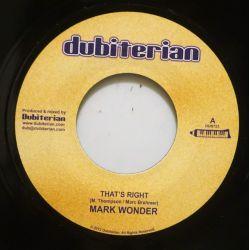 """Mark Wonder - That's Right - 7"""" - Dubiterian"""