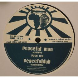 "Paco Ten / Sankara Warriors - Jah Will Prevail / Peaceful Man - 12"" - Lumumba Records"