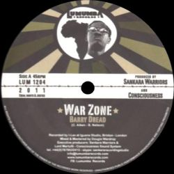 "Barry Dread  - War Zone - 12"" - Lumumba Records"