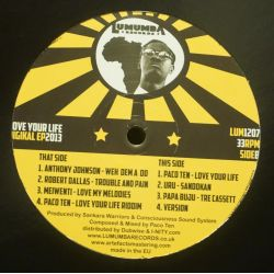 "Various - Love Your Life Riddim Ep - 12"" - Lumumba Records"