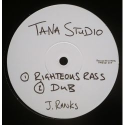"Jimmy Ranks -  Righteous Rass / Jah - 10"" - Tana Studio"