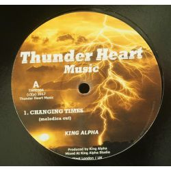 "King Alpha - Changing Times (melodica cut) - 12"" - Thunder Heart Music"