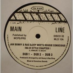 """Jah Bunny / Ras Elroy / Dougie Conscious - Ina 81 Style Chapter 1 / Chapter 2 - 12"""" - Main Line"""