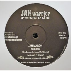 "Jah Mason / Jah Warrior - So Long / Jungle Warrior - 12"" - Jah Warrior Records"