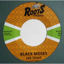 "Jah Lloyd - Black Moses - 7"" - Roots Traders"