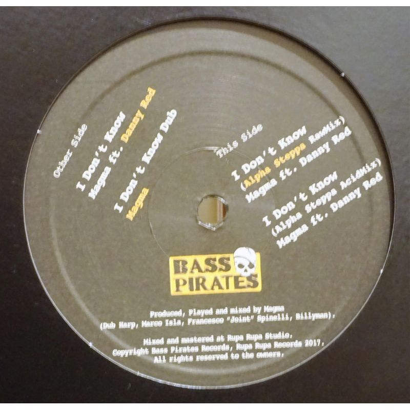 Danny Red / Magma Dub / Alpha Steppa - I Don't Know - 12