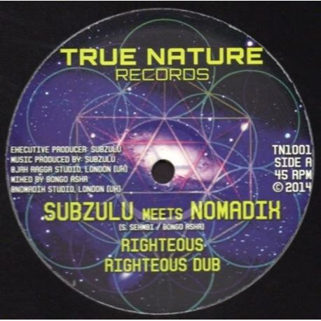 """Subzulu / Nomadix - Righteous / Time & Space - 10"""""""
