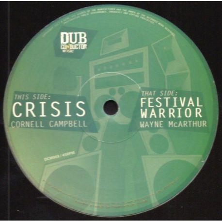"Cornell Campbell /  Wayne McArthur - Crisis / Festival Warrior - 12"""
