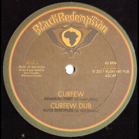 Admiral Tibet /  Brother Culture - Curfew / Protection - 10""