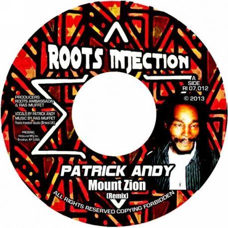 "Patrick Andy /  Ras Muffet - Mount Zion - 7"""