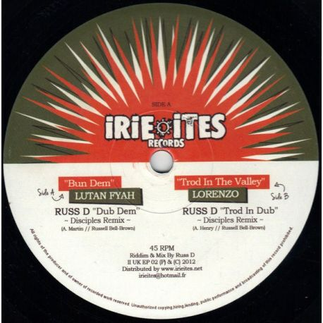 Lutan Fyah /  Lorenzo  - Bun Dem / Trod In The Valley - 10""