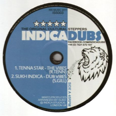 Tenna Star , Sukh Indica , Uprising Sounds - The Vibes - 12""