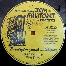 "Bunnington Judah Meets Brizion , Bunnington Judah Meets Don Fe - Burning Fire , With Jah - 12"""