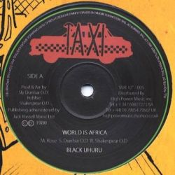 Black Uhuru - World Is Africa - 12""