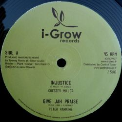 "I-Plant /  Chester Miller /  Peter Ranking /  - Injustice Riddim - 12"""