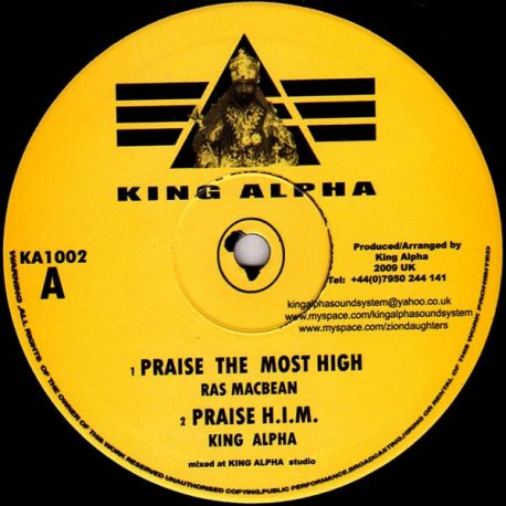 Ras Mac Bean /  Empress Shema - Praise The Most High / Lion Of Judah - 10""