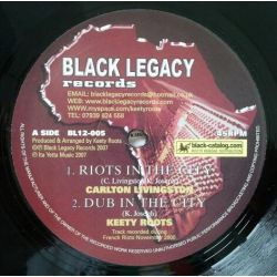 Carlton LIvingston /  Keety Roots - Riots In The City - 12""