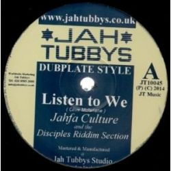 Jahfa Culture /  The Disciples  /  Idren Natural /  - Listen To We / Deliver The Goodness - 10""