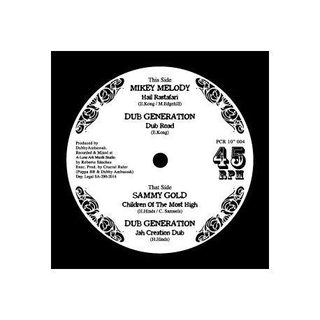 "Mikey Melody /  Sammy Gold - Hail Rastafari, Children Of The Most High - 10"""